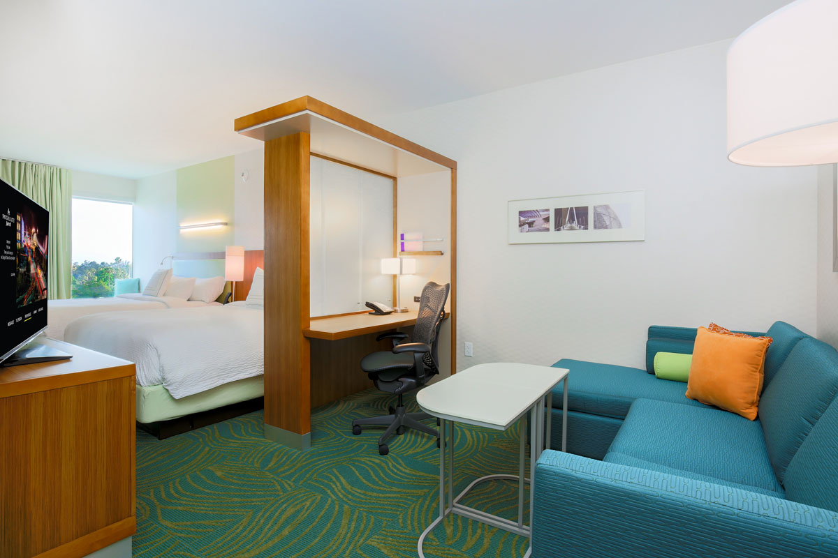 Springhill Suites by Marriott San Jose California - two queen sofa suite 3